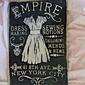 """18"""" wood dress picture sewing bedroom wall decor"""